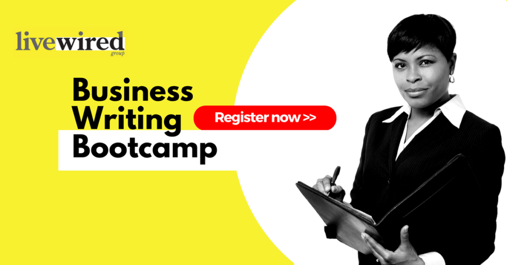 Business writing bootcamp Livewired - Trinidad workshop